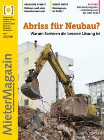Titelseite MieterMagazin 3/2016
