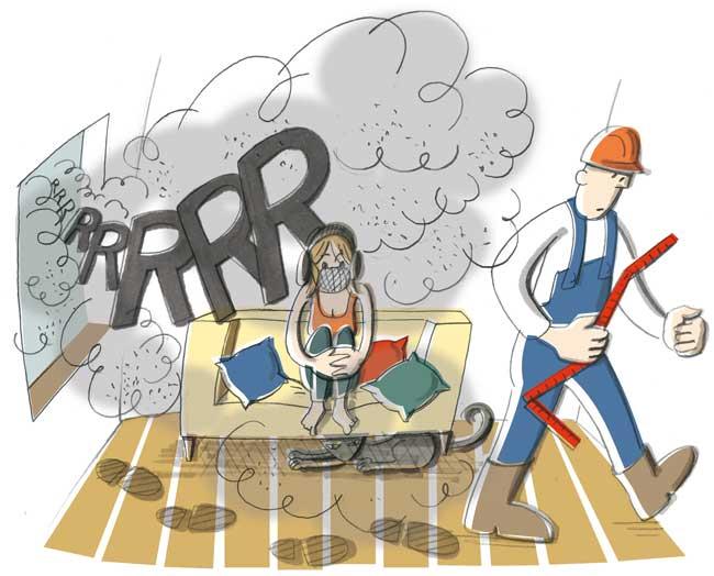 Illustration zum Dreck bei Sanierungsarbeiten