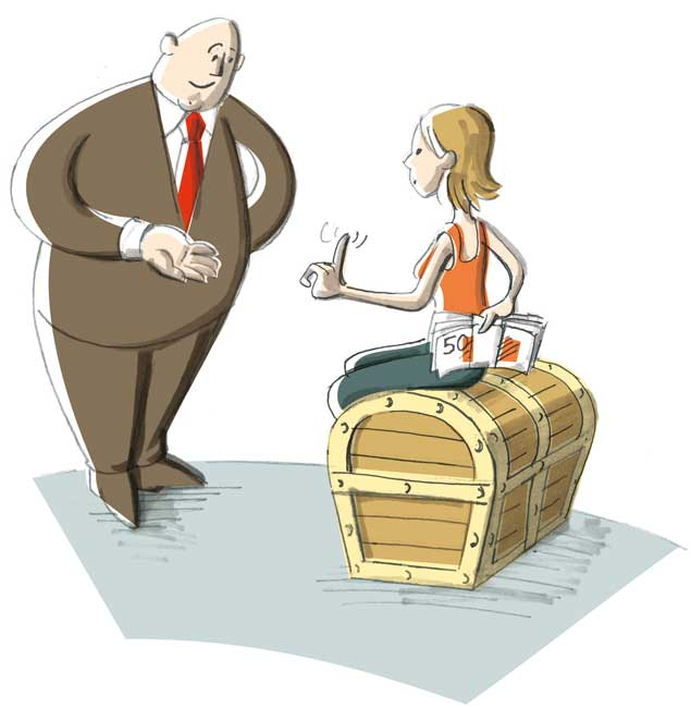 Illustration zum Zurückbehaltungsrecht