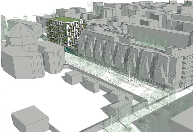 Nettelbeckplatz: Überbauung einer ehemaligen Tief-/Hochgarage