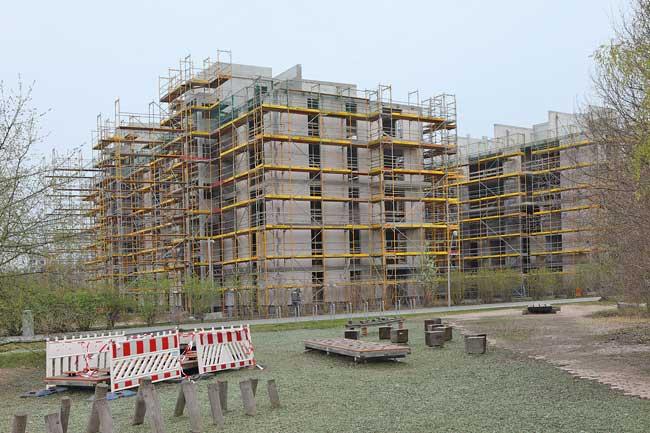 Rohbauten der Genossenschaft Möckernkiez