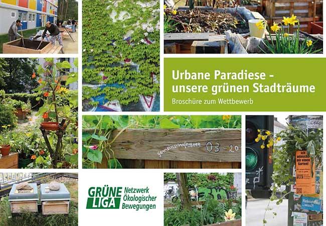 Titelseite der Broschüre 'Urbane Paradiese'