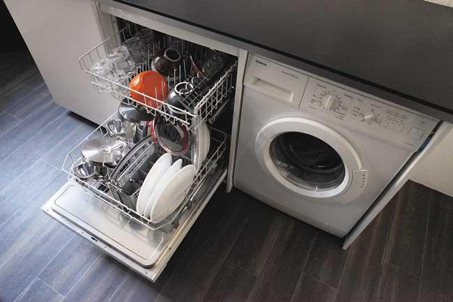 Spülmaschine und Waschmaschine