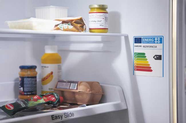 Kühlschrank mit EU-Energielabel