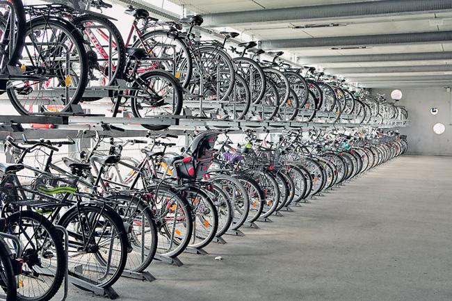 Fahrradparkhaus in Bernau