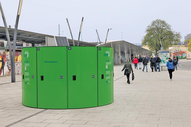 'velo-easy'-Box am Bahnhof Lichtenberg