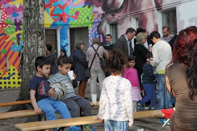 Nachbarschaftsfest im Projekt Bunte 111
