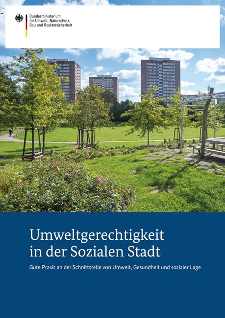 Titelseite der Broschüre 'Umweltgerechtigkeit in der Sozialen Stadt'