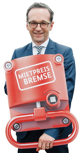 Bundesjustizminister Heiko Maas mit 'Mietpreisbremse'