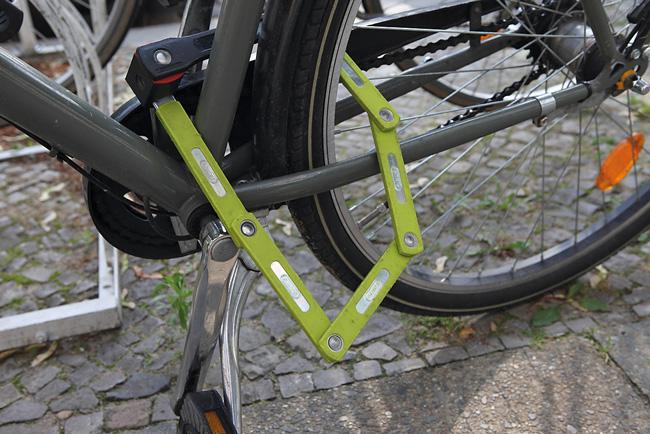 Fahrradsicherung mit Faltschloss