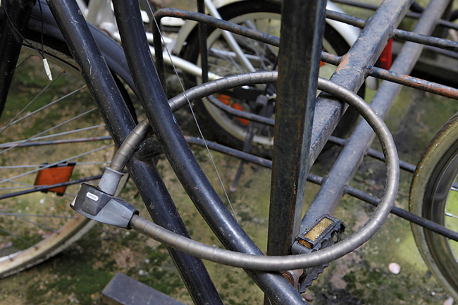 Fahrradsicherung mit Kabelschloss