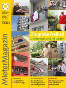 Titelseite MieterMagazin 7+8/2016