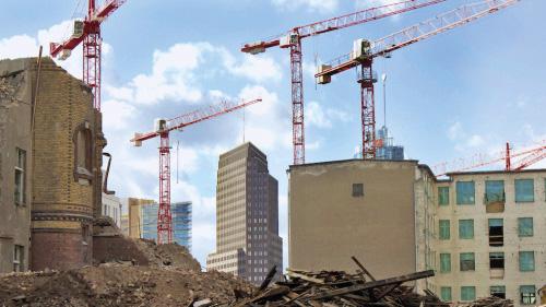 Berliner Baugeschehen: Abriss, Neubau und Baukräne