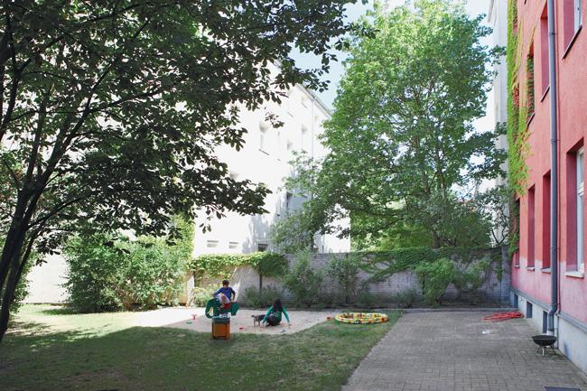 Bewohnergarten in der Otto-Franke-Straße 74
