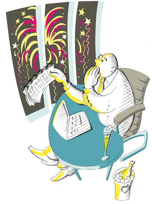 Zeichnung: Schreck zum Jahresende - die Betriebskostenabrechnung