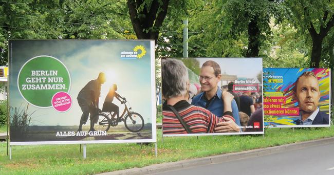 Wahlwerbung am Straßenrand