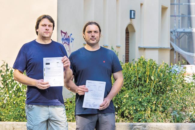Tilo Trinks und Lion Becker vom Mieterforum Pankow