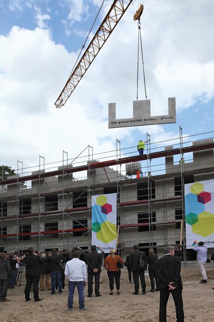 Baustelle für das Modularhaus in der Bernauer Straße