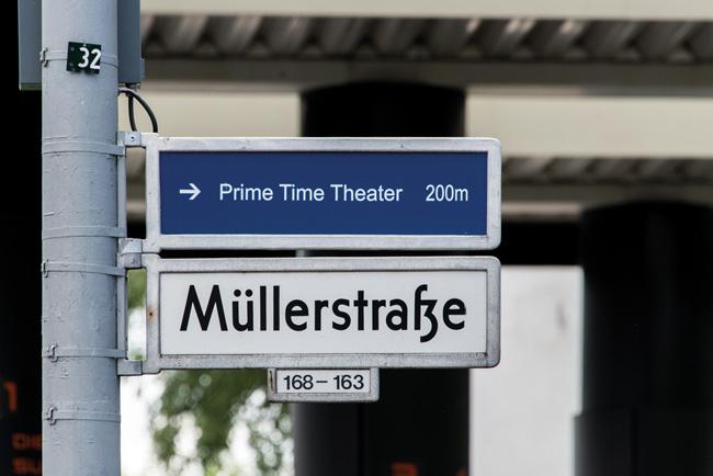 Straßenschild 'Müllerstraße'