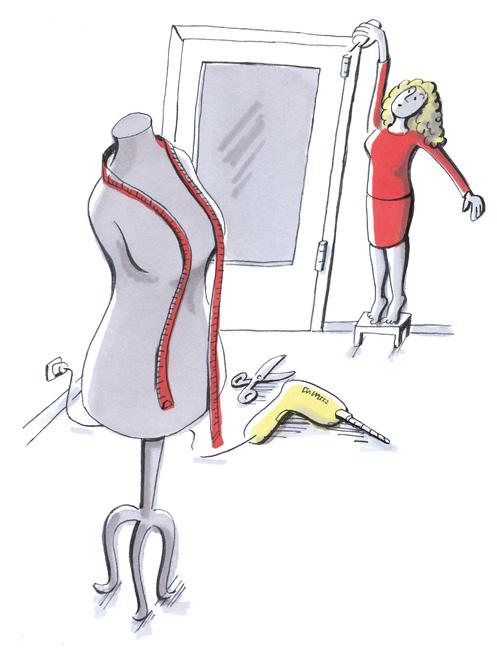 Illustration: Mieterin beseitigt kleinen Mangel selbst