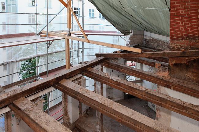 Dachgeschossausbau im Rohbau