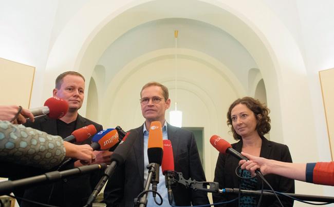 Rot-rot-grüne Verhandler Lederer, Müller, Pop