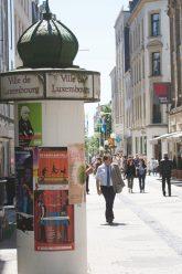 Geschäftsstraße in Luxemburg