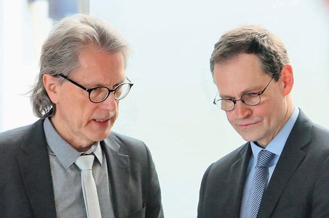 Berlins Finanzsenator Kollatz-Ahnen und Regierender Bürgermeister Michael Müller