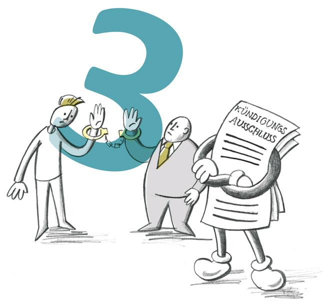 Illustration zum Kündigungsausschluss