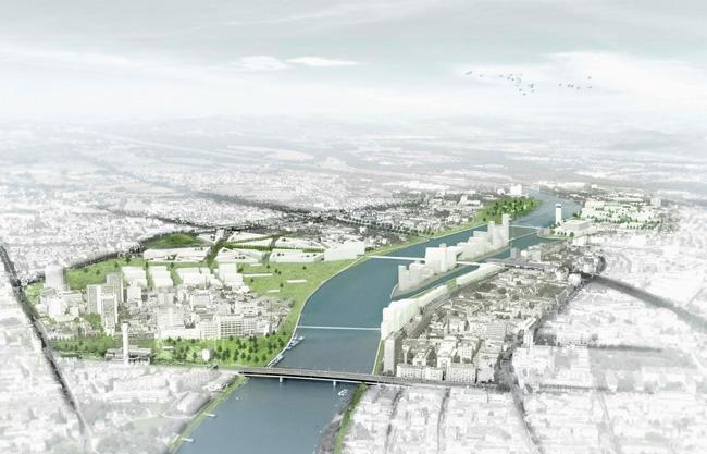 Visualisierung der IBA-Planung am Rhein-Ufer