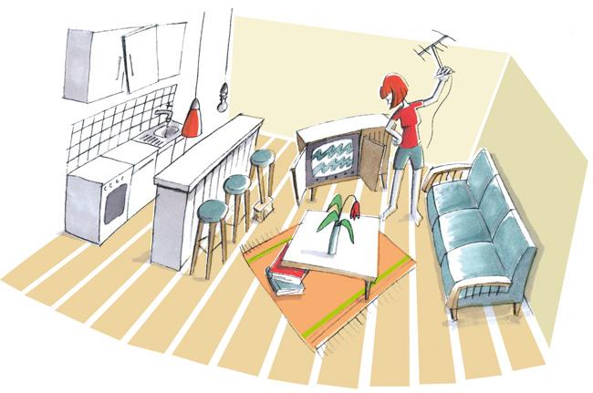 Illustration: Zimmereinrichtung