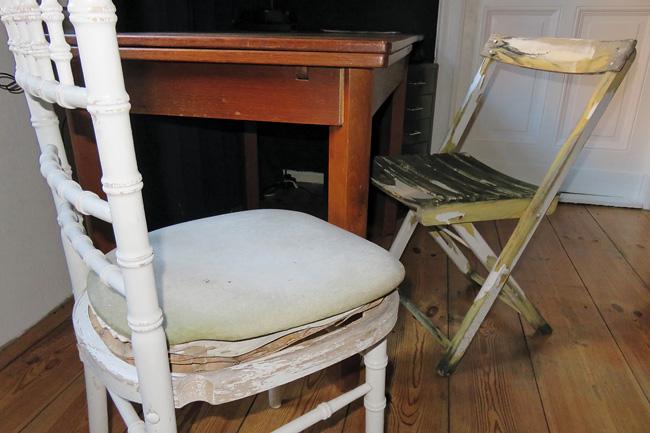 Abgenutzte Stühle