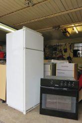 Eingelagerte Küchenmöbel