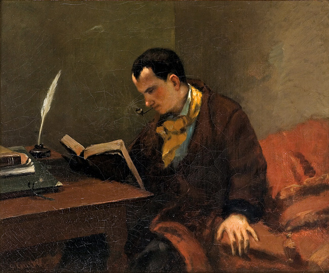 Porträt von Baudelaire, Gemälde von Gustave Courbet