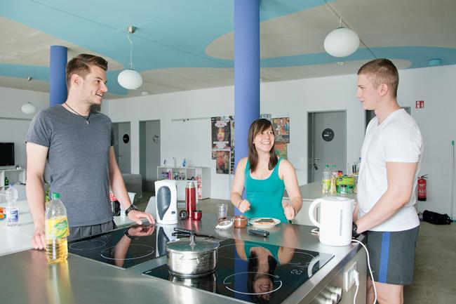 Gemeinschaftsküche im Studentendorf Adlershof