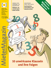 Titelseite MieterMagazin 1+2-2017
