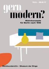 Plakat zur Ausstellung 'gern modern?'