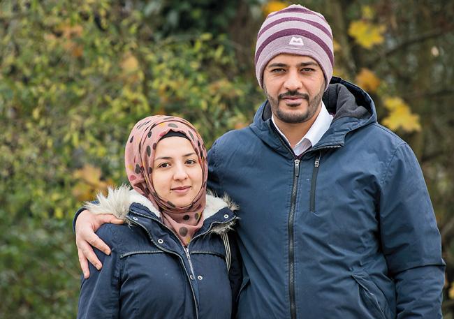 Syrische Flüchtlinge Reaam und Khalid