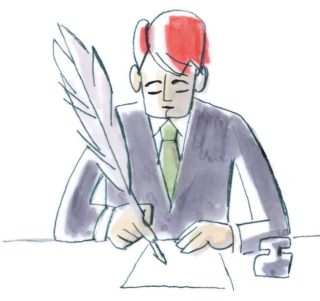 Illustration: Unterschrift durch den Mieter