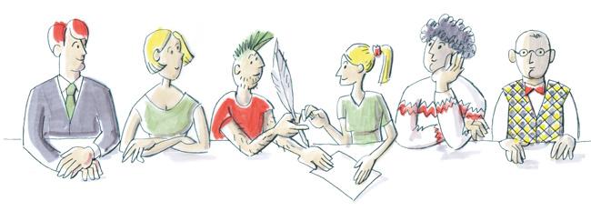 Illustration: Wohngemeinschaft
