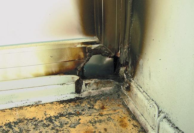 Brandschaden in der Wohnung