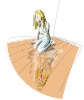 Illustration: Spiegelbild auf Dielenfußboden