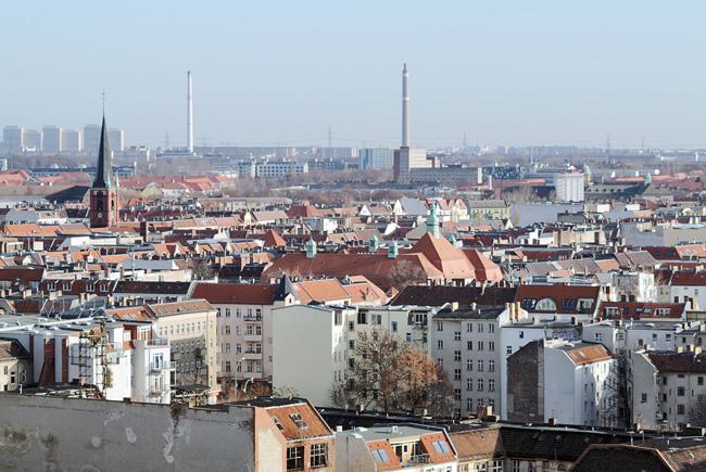 Blick auf Berliner Dächer