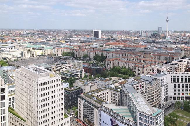 Berliner Innenstadt aus der Luft