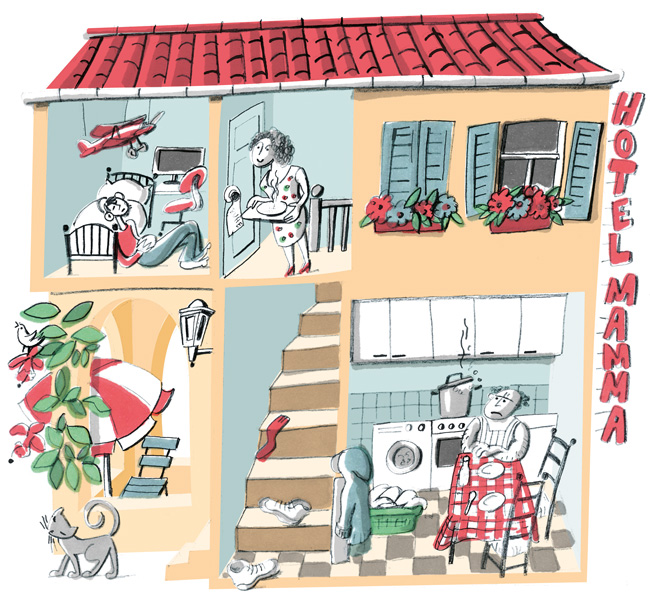 Illustration zu 'Hotel Mama'
