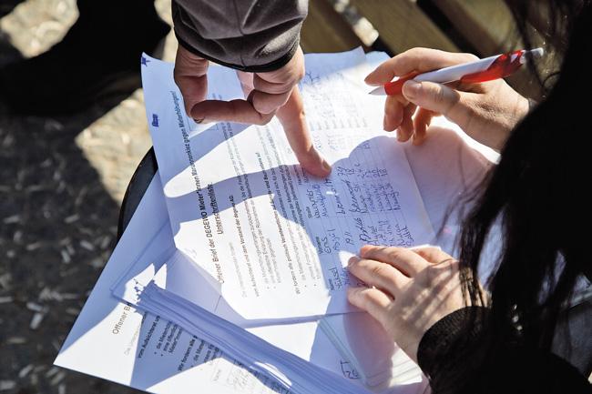Unterzeichnung eines Offenen Briefs an die Degewo