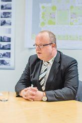 Jan Eckardt vom städtischen Wohnungsunternehmen in Frankfurt (Oder)