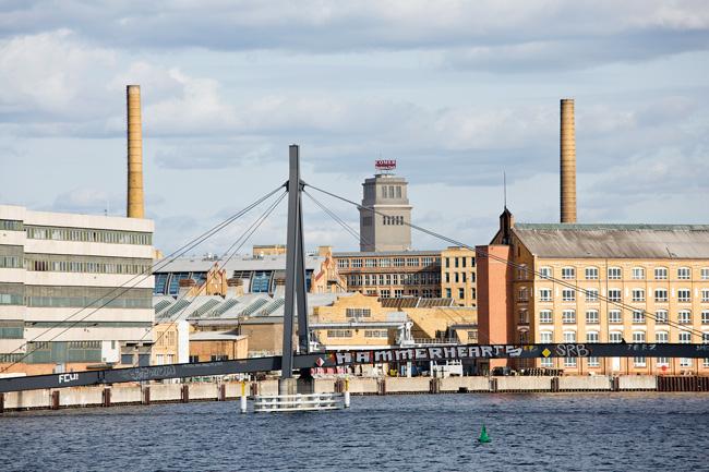 Spreebrücke und Industriebauten in Oberschöneweide