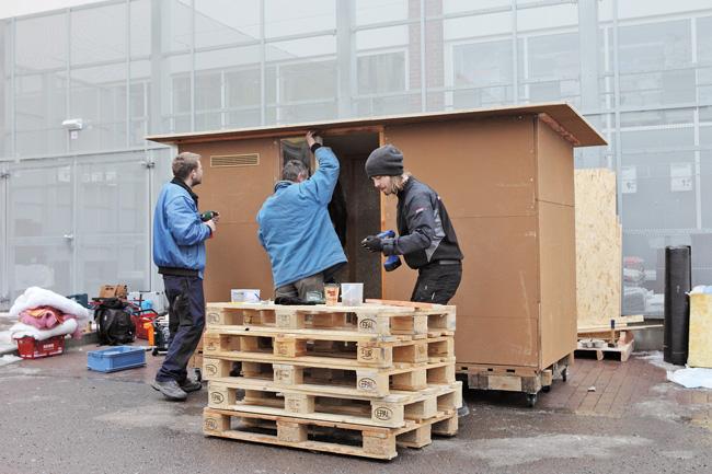 Aufbau des 'Little Home'