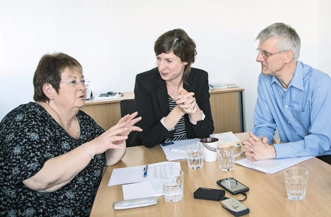 Dr. Rainer Tietzsch, Dr. Jutta Hartmann und Gundel Riebe bilden den neuen Vorstand des Berliner Mietervereins